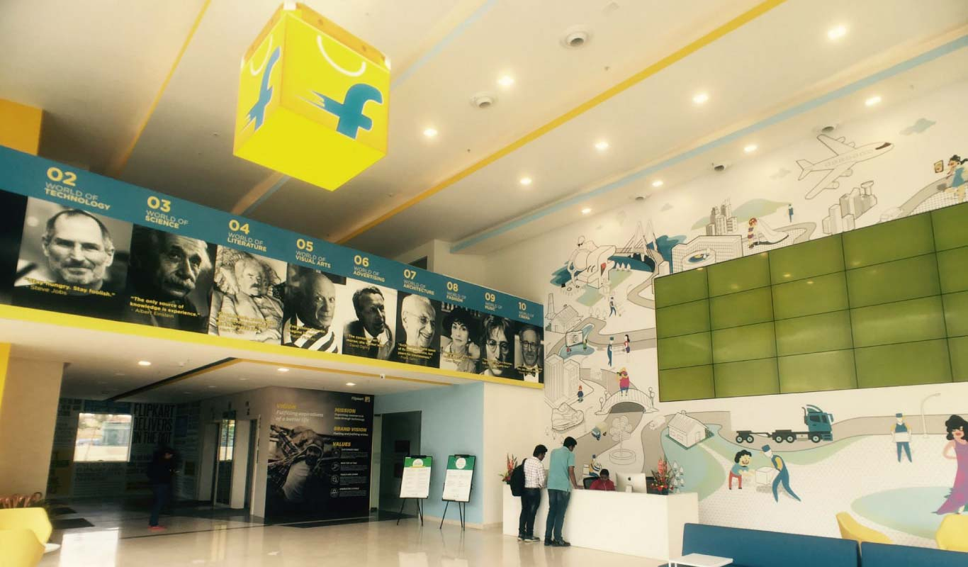 A view of Flipkart's new office in Bangalore