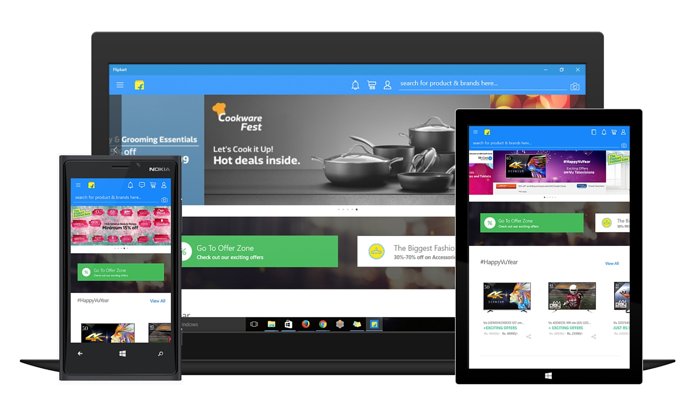 Flipkart launches Windows 10 app